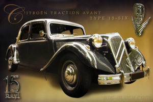 Poster-voiture-Citroen-Traction-Avant-15-Six