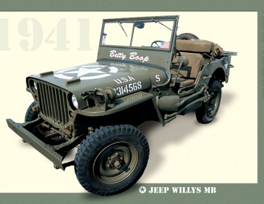 Poster-affiche-jeep-willys-MB-1941