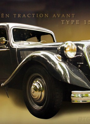 Poster Citroën Traction Avant Type 15-Six