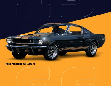 Poster Ford Mustang GT 350 Shelby Hertz